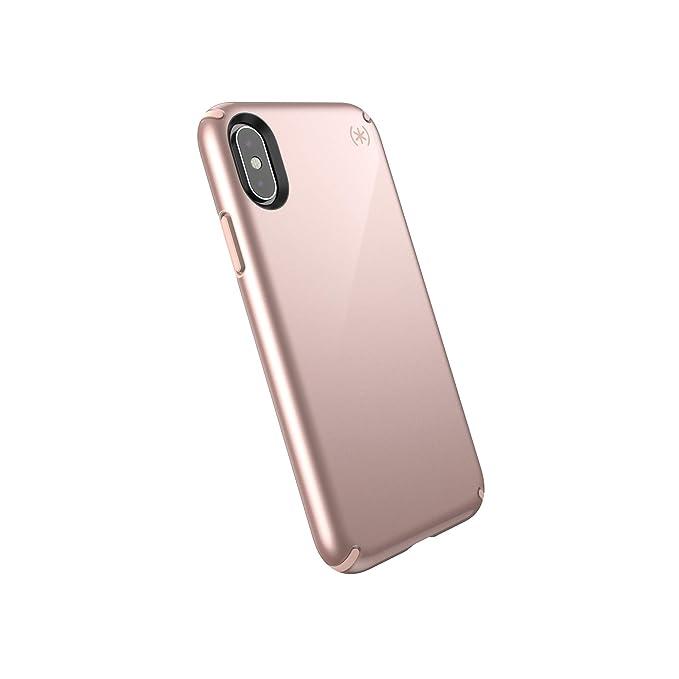 promo code 1bf29 67331 Speck Products Presidio Metallic iPhone Xs/iPhone X Case, Rose Gold  Metallic/Dahlia Peach