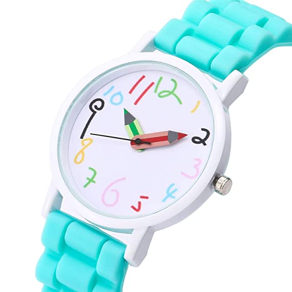 38f690c6e Kids Watches Childrens Boys Girls Sports Digital Analogue Waterproof LED  Blue Green Pink Wrist Watches Teenage Junior Silicone Multiple Functions  Watch ...