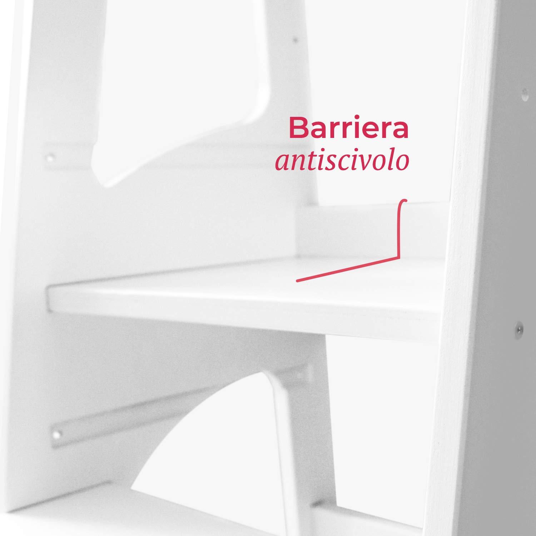 Bianconiglio Kids /® Evo 2019 Learning Tower Regolabile con Bordi arrotondati Blu
