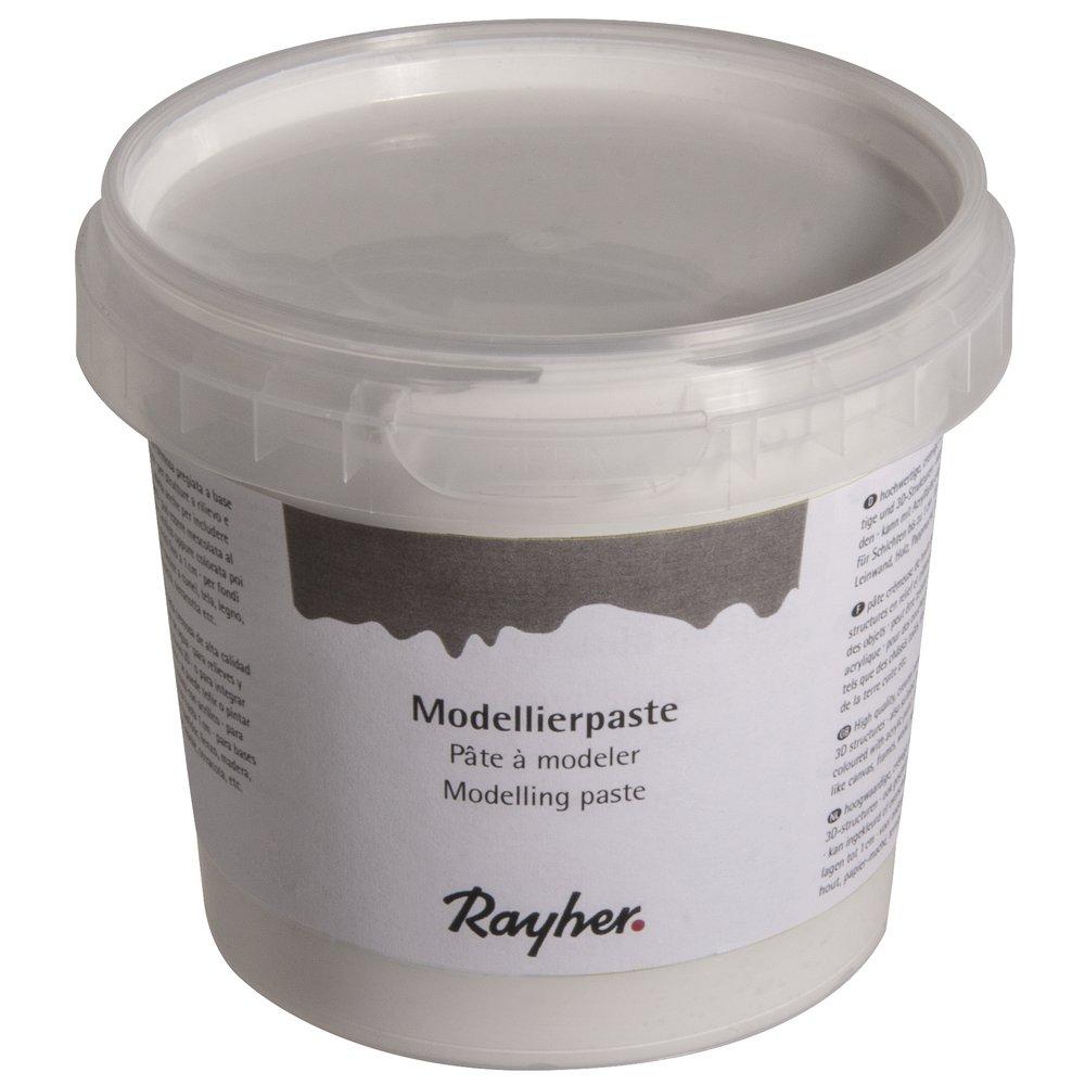 Rayher Hobby 38932000 Modellierpaste, weiß, 0.95 x 0.95 x 0.85 cm weiß Rayher Hobby GmbH