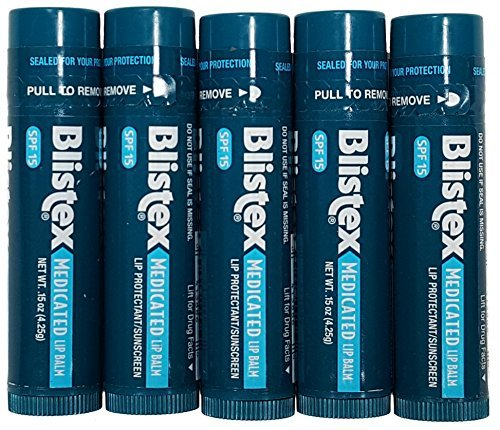 Lot of five  BLISTEX® Medicated Lip Balm Protectant / Sunsc