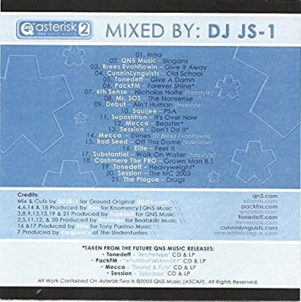 DJ JS-1: Asterisk 2 CD - Amazon com Music