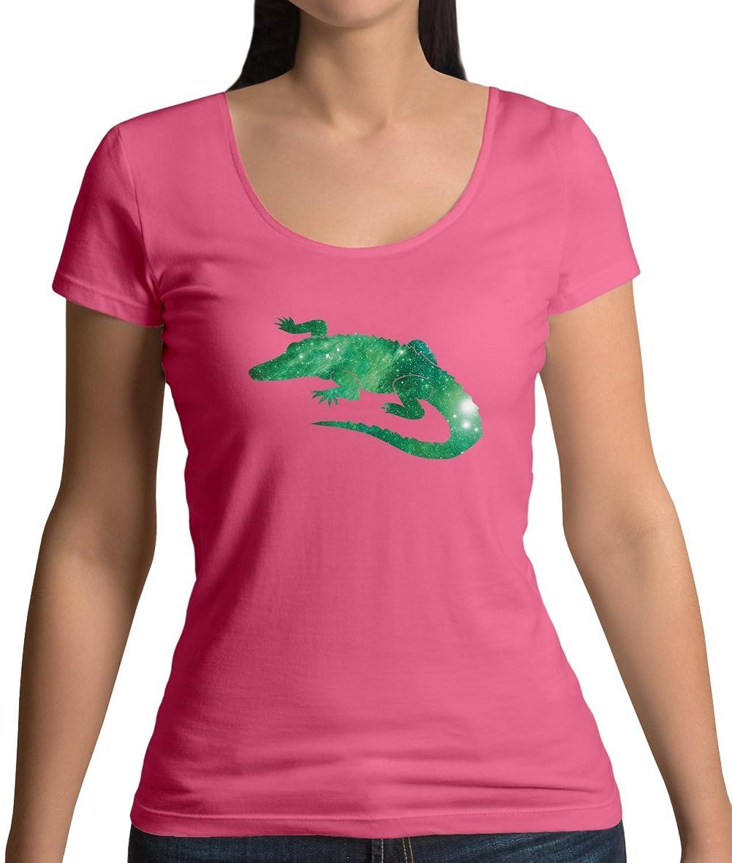 Dressdown Galaxis Krokodil - Damen T-Shirt mit Rundhalsausschnitt - 7 Farben:  Amazon.de: Bekleidung