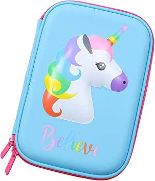 Unicorn print personalized pencil case for for kids Girl unicorn print pencil case roll up