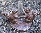 Cast Iron Squirrel Rain Gauge