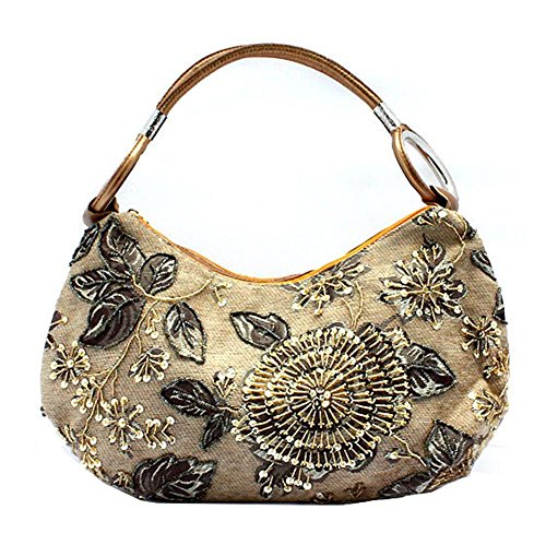 X 44cm£© yellow Big Prom NVBAO £¨43 Handmade Dinner handbag£¬ bag beaded Womens embroidery HnaP74v