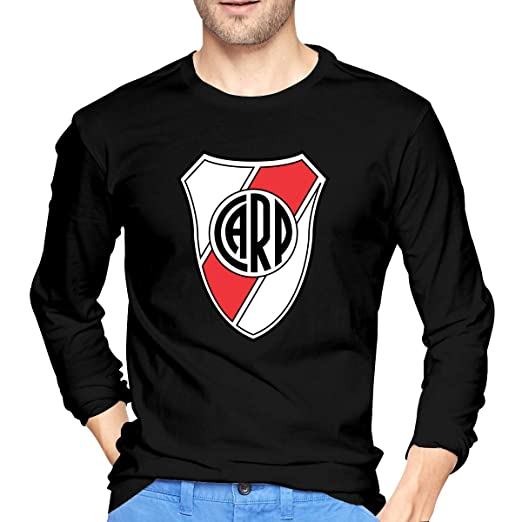 BAIDAFEILI River Plate FC Mens Long Sleeve T-Shirt with Round Collar