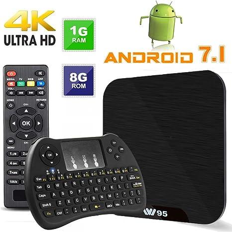 TV Box Android 7.1 - VIDEN W1 Smart TV Box Amlogic Quad Core, 1GB RAM & 8GB