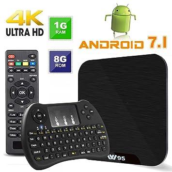 TV Box Android 7.1 - VIDEN W1 Smart TV Box Amlogic Quad Core, 1GB RAM