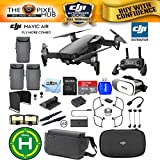 DJI Mavic Air Fly More Combo (Onyx Black) 3 Battery Pro Accessory Bundle With 64GB Sandisk Memory Card, VR Glasses, Landing Pad, Range Extender Plus More (3 Batteries Total)