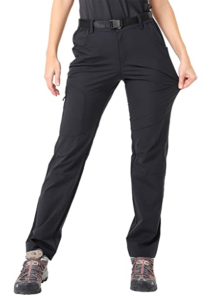 4dc3c07532859 MIER Women's Outdoor Quick Dry Hiking Pants Lightweight Cargo Pants with  Elastic Waist, Water Resistant