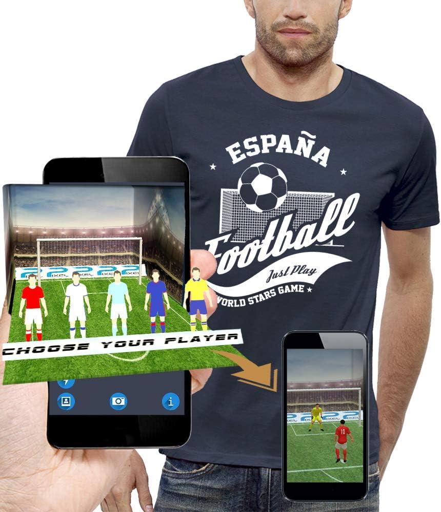 PIXEL EVOLUTION Camiseta 3D FÚTBOL ESPAÑA en Realidad Aumentada ...