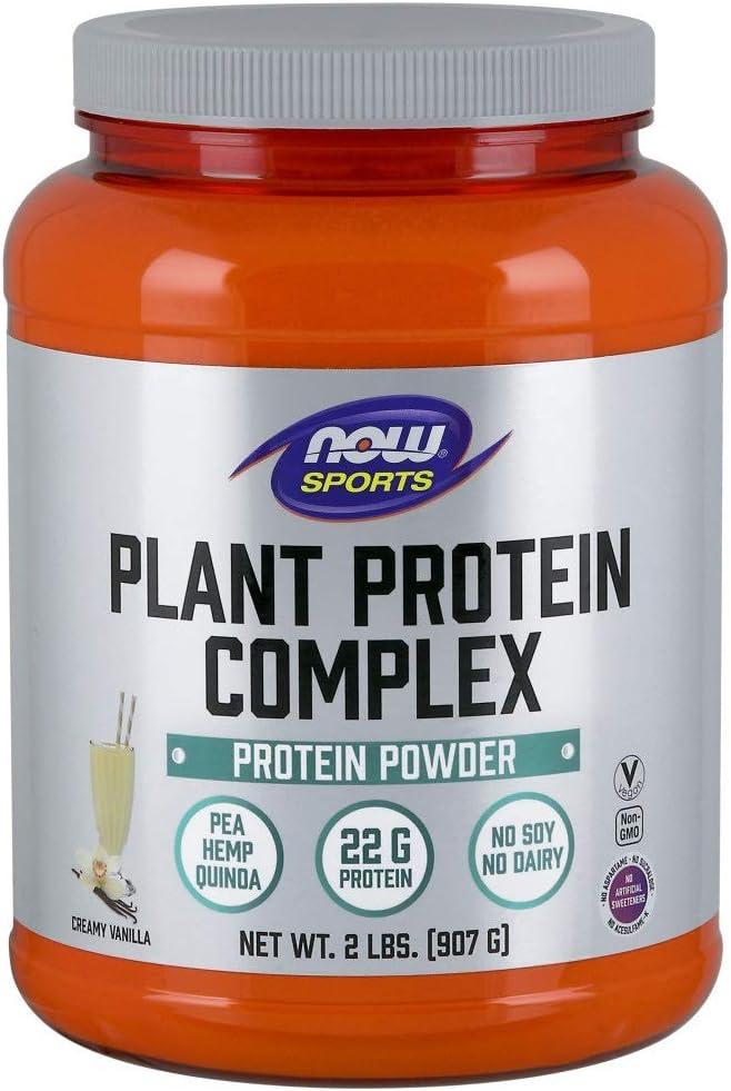NOW Foods Planta Complejo De Proteinas, Vainilla Cremosa 910 g