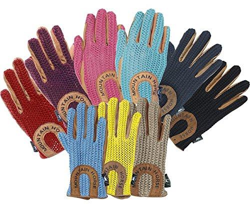 Horse Navy Crochet Adult Mountain Gloves dnA6xdq