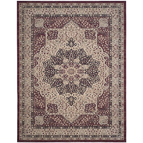 Lavar Cream (Safavieh Lavar Kerman Collection LVK621B Traditional Cream and Red Cotton Area Rug (9' x 12') (9' x)