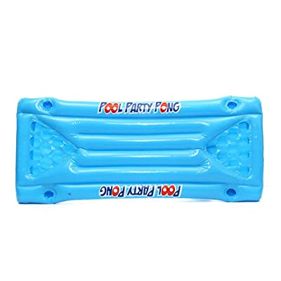 MEXCO Inflatable Beer Pong Float Table Swimming Pool Raft Lounge PVC Floating Raft with 24 Cup Holders for Pool Party Game: Juguetes y juegos