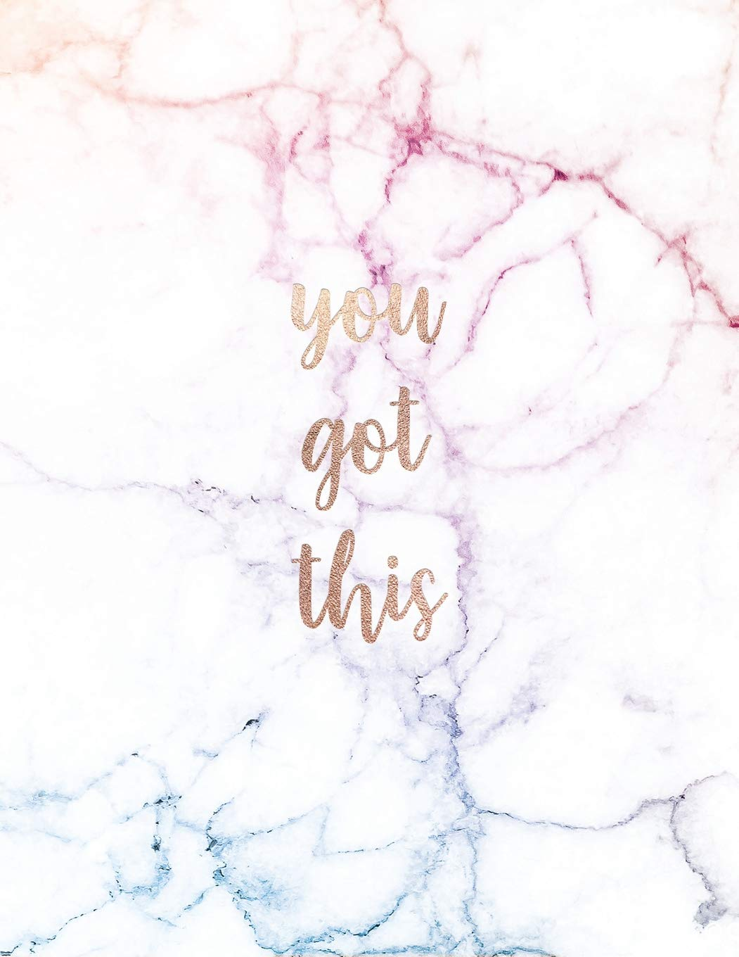 You Got This Inspirational Quote Notebook Trendy White And Pastel
