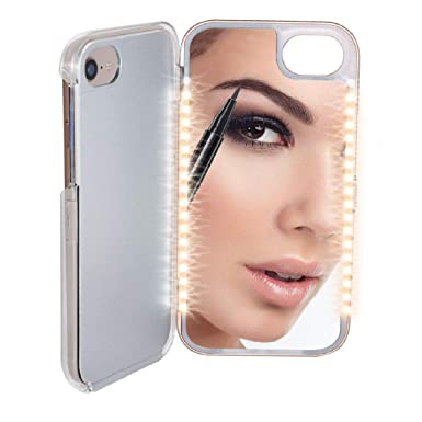check out 02e7d f6083 Mayhem Universal Light Up LED Mirror Phone Case: Amazon.co.uk ...