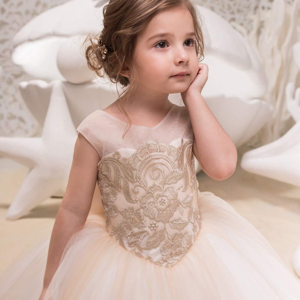 de1c8c8ff2e Doux Robe de demoiselle d honneur pour enfant de sexe féminin pour enfants  Spectacle d anniversaire