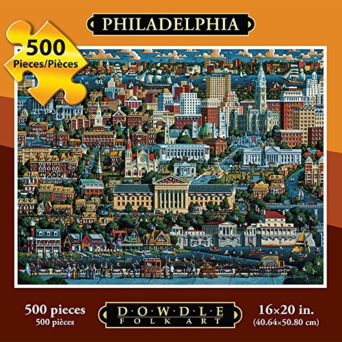Jigsaw Puzzle - Philadelphia 500 Pc By Dowdle Folk Art (Bell Folk Art)