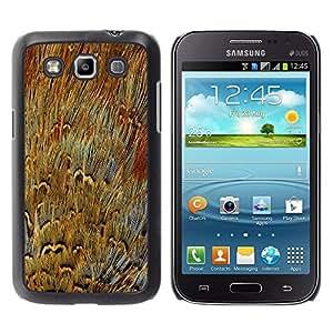 Caucho caso de Shell duro de la cubierta de accesorios de protección BY RAYDREAMMM - Samsung Galaxy Win I8550 I8552 Grand Quattro - Fur Close Enlarged Modern Random Art
