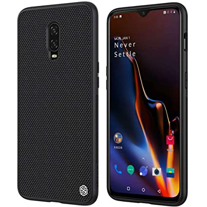 newest 3b4cb b19e1 Nillkin Oneplus 6T Case, Nylon Fiber Weave Non Slip Matte Surface Slim Hard  Protective Case Back Cover [Compatible with Magnetic Phone Holder] for ...