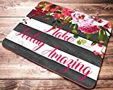 striped mouse pad - Floral Striped Mouse Pad with Quote Make Today Amazing Inspirational Quotes Desk Accessories for Women Office Gifts