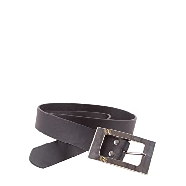 Mim - Ceinture boucle rectangle - Femme - LXL - NOIR  Amazon.fr ... f6f4d12e56c