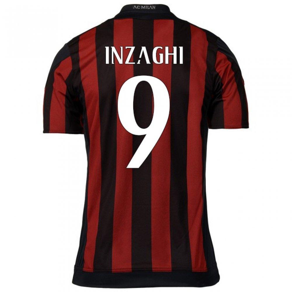 2015-16 AC Milan Home Shirt (Inzaghi 9) Kids B077VCFHTLRed Large Boys 30-32\