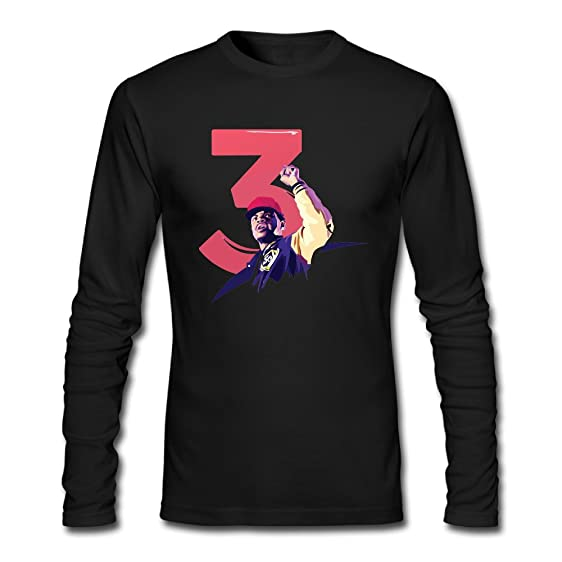 Mens Summer Long Sleeve Chance The Rapper Number 3 Coloring Book T Shirt