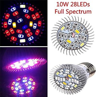 [Envio Gratis] 10 W espectro completo Led SMD5730 crecer bombilla lámpara de efecto invernadero hidroponía planta plántula BML® marca//10 W espectro ...