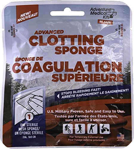 Adventure Medical Kits Quikclot Advanced Clotting Sponge, 25g