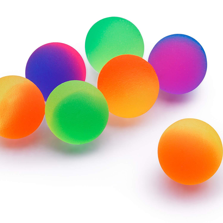 32 Pi/èces Balle Glac/ée Balles Rebondissantes 27mm Boules Glac/ées Vibrantes de 2 Couleurs de Ton Boules Rebondissantes Color/ées Remplisseur de Sac de F/ête