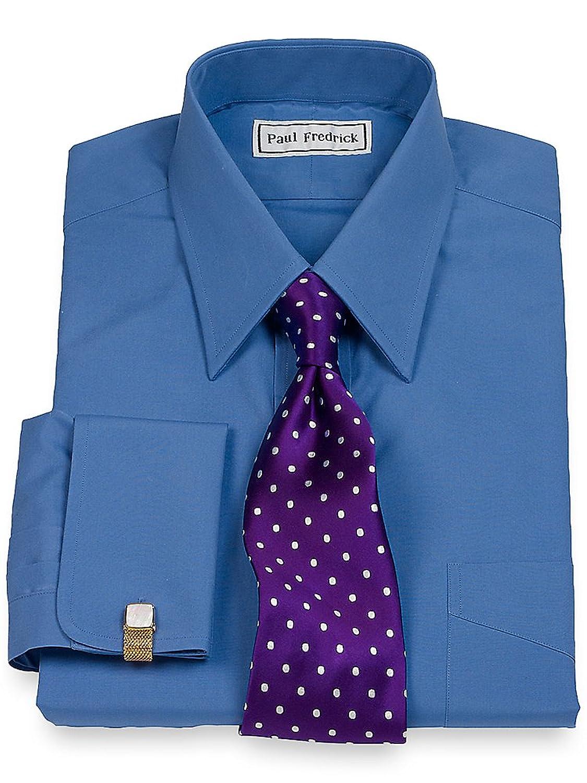 Paul Fredrick Men\'s 2-Ply Cotton Straight Collar French Cuff Dress ...