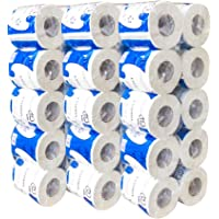 World Backyard 30 Rolls Toilet Paper, Professional Premium 3-Ply, Ultra Silky & Smooth Daily Use, Soft, Strong And Highly Absorbent Degradable Toilet Tissue Paper for Bathroom Kitchen