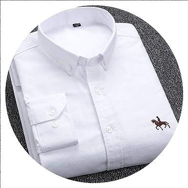 Camisa de Vestir Oxford para Hombre de algodón 100%, Talla Grande 4XL - Blanco - 4X-Large: Amazon.es: Ropa y accesorios