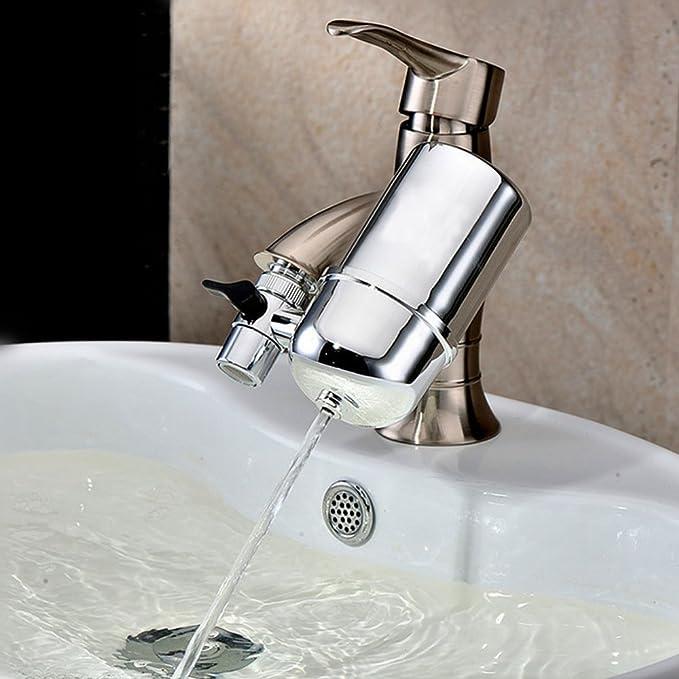 Setaria Viridis Faucet Booster Filter Splash-Proof Folding Faucet Filter Green and Pink 360 Rotating Faucet Filter Nozzle Water Filter(4 Packs)