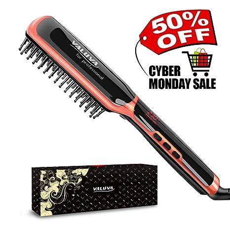 Cepillo de pelo cabello lonic yaluya regalo embalaje portátil cepillo alisador para el pelo y eléctrico