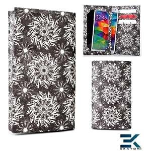 [Tyvek] HTC Inspire 4G Phone Case - BLACK SWIRL | Tyvek Bifold Wallet Universal Phone Cover. Bonus Ekatomi Screen Cleaner