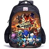 Sonic The Hedgehog Mochila para niños, niñas adolescentes con impresión 3D grande mochila de viaje para hombres y…