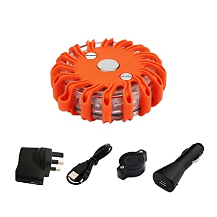 Outdoor Tools Led Road Flares Red Safety Flashlight Beacons Riding Vehicle Rechargeable Flashing Warning Lights Roadside Emergency Disc Beacon Back To Search Resultssports & Entertainment