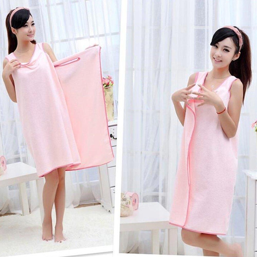 Absorbente toalla para mujer tipo vestido para la playa, el spa o para salir de nadar, sirve como bata de baño y como toalla de baño; todo en uno.