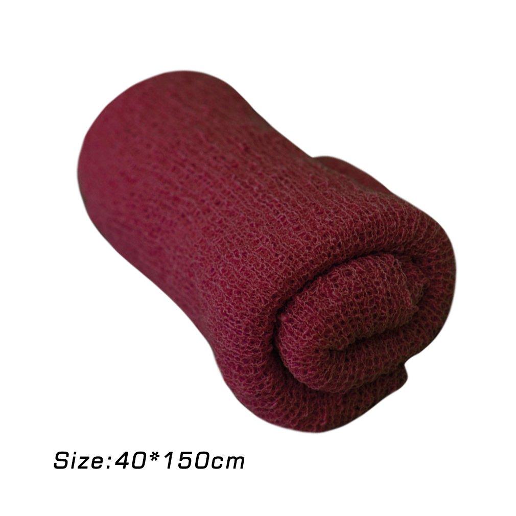 150cm Leoboone Baby Fotografie Requisiten Decke Viskose Stretch Wrap Neugeborenen Foto Wraps H/ängematte Swaddling Padding Nubble Wraps 40