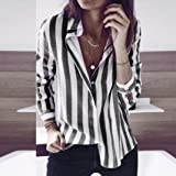 Big Sale!! SSYUNO Women's Striped Casual T Shirt