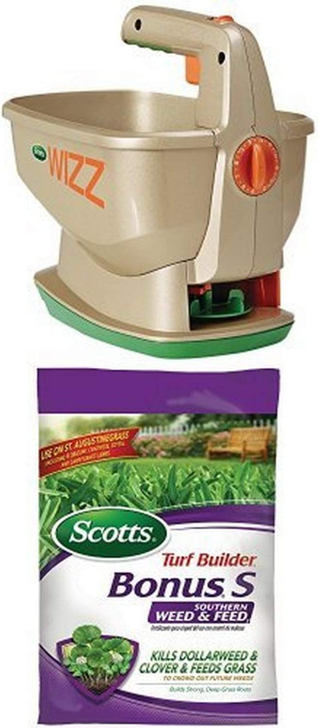 Scotts Southern Weed & Feed + Wizz Spreader Bundle