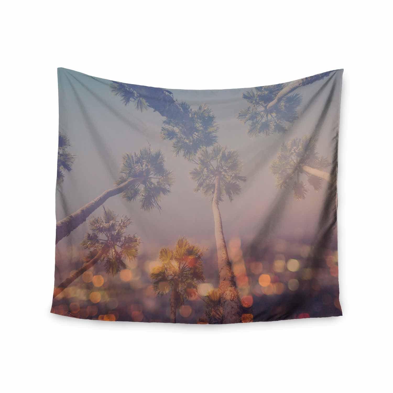 Kess InHouse Ann Barnes Postcard from L.A Blue Purple Digital Wall Tapestry