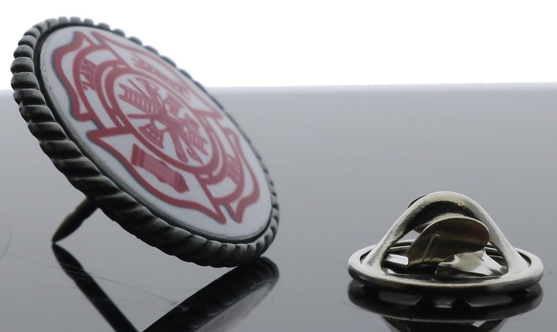 Fire Department Emblem Silver Tone Hat Pin 3//4 inch SON41flpD155