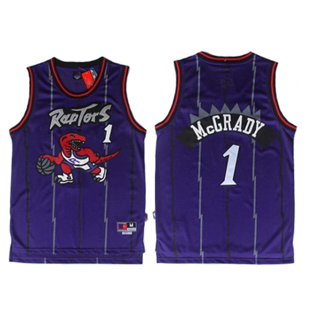 Jersey Unisex Swingman Fan,M Camisetas Deportivas cl/ásicas Retro c/ómodas//Ligeras//Transpirables TGSCX McGrady # 1 Toronto Raptors All-Star Jersey 175cm//65~75kg