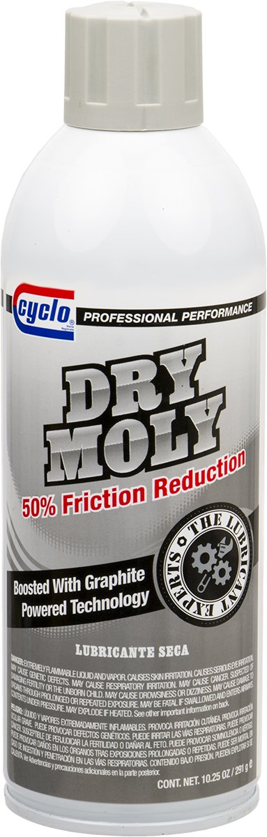 Niteo Cyclo Dry Moly Lubricant with Graphite, Aerosol Spray, 10.25 fl oz by Niteo