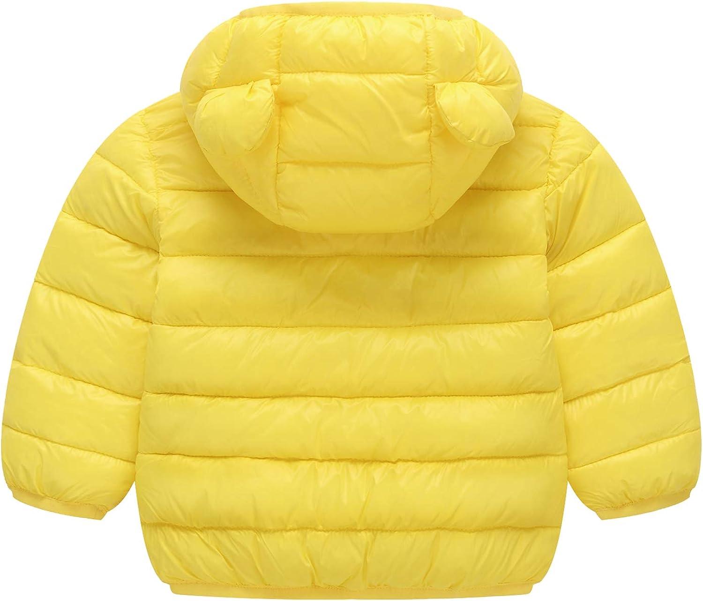 VJJ AIDEAR Winter Coats for Baby Boys Girls Warm Cute Hoods Light Puffer Jacket Outwear